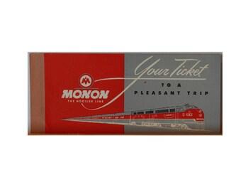 Monon Railroad Ticket Booklet