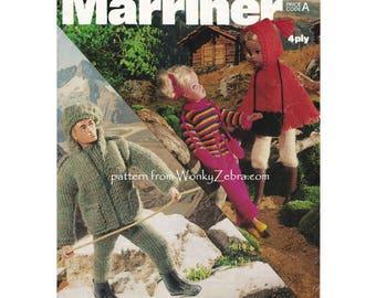 Vintage Sindy Doll Action Man Teen Doll Winter Ski Knitting Pattern PDF T1007 from WonkyZebra