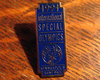 Special Olympics Pin - Vintage 1991 Minneapolis Minnesota USA International Game