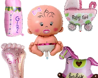 All 5 PCs, baby shower balloons, balloons baby shower, baby shower balloons girl, baby shower decorations, baby shower decorations girl