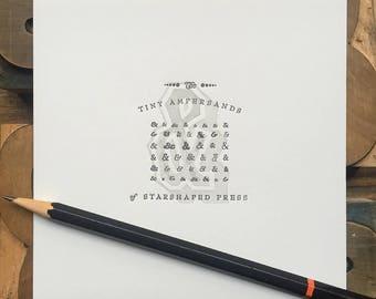 Tiny Ampersands mini letterpress print