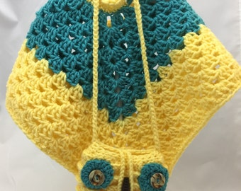 Child Poncho and Owl Purse