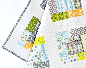 Woodland Baby Quilt ~ Patchwork Quilt ~ forest baby blanket baby bedding baby shower gift wood nursery baby gift baby quilt baby boy blanket