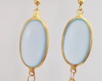 Light Blue Acrylic Earrings
