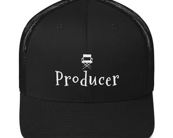 Film Producer Trucker Cap Gift for Movie Lovers and Film Buffs