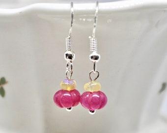 Opal and Ruby Sapphire Earrings