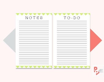 NOTES & To Do Mini Happy Planner Printable Inserts, Create 365, Happy Planner Insert, Happy Planner Mini, MAMBI Planner, Instant Download