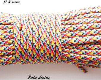 Cord / Paracord 4 mm 550: multicolor