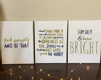 Inspirational Word Art Canvas Painting Wall Quotes Gift