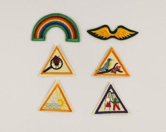 6 Original Brownie Girl Scout Merit Badges - Unused - 1980s USA