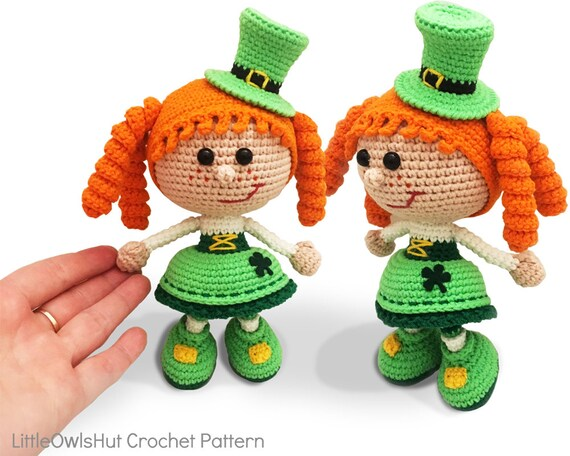 Free Amigurumi Leprechaun Pattern : 183 crochet pattern girl doll in a st patrick leprechaun