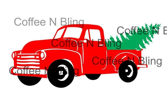 Vintage Christmas Truck Svg Silhouette Cricut Vinyl Digital File Tree Farm SvgChristmas From CoffeeandBling On