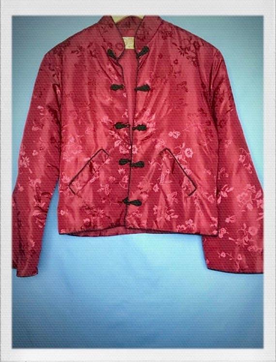 "Vintage Women's Chinese Longevity Jacket 18"" width 21"" length"