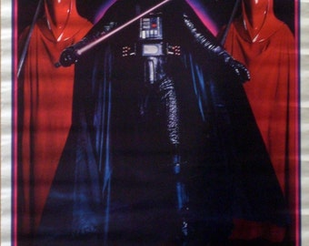 Star Wars 22x34 Return Of The Jedi Darth Vader Collage Poster 1983