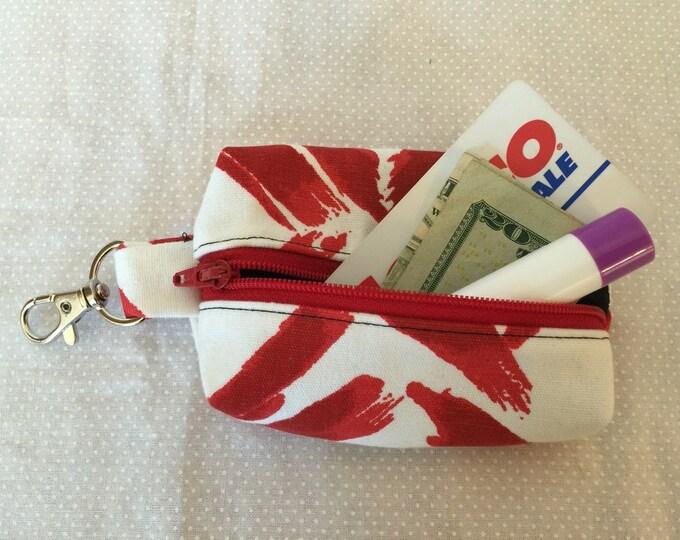 Zippered Keychain Pouch, Coin Purse, Card Holder, Tissue holder, Dog walking bag, Dog Poop Bag Holder, Lip Balm Container, Gift Card Holder