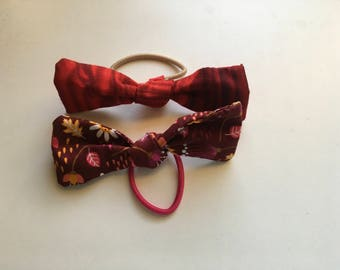 Autumn hair bow duo (set of two)