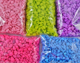 Bag of Pebbles ~ 1 Pound ~ (Large 4 x 6 inch Bag) ~ May be Used in Water ~ For large terrariums - DIY - Build-a-Terrarium ~ Color Choice