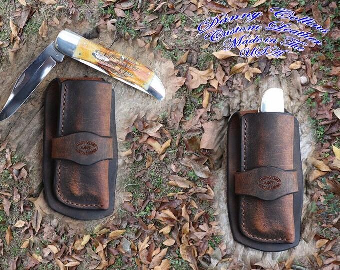 Case Folding Hunter Sheath, Cowboy knife sheath, Buffalo Knife Sheath