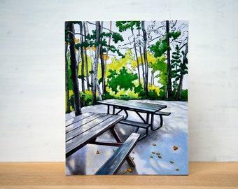 "SALE Gone Camping series - 'Site 354' Large Artblock,  8"" x 10"""