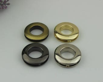 10pcs 26mm inner 15mm gold silver brass gunmetal black Eyelets Grommets metal eyelets handbag hardware bag handbag Purse Accessories