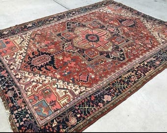 "large antique persian rug  8'8"" x 12'2"""