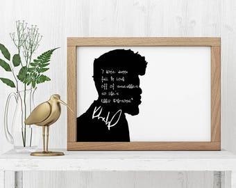 """Khalid """"I Don't Wanna Fall in Love"""" Art Print"""