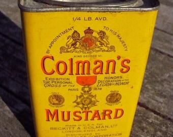 Colman's Mustard Tin