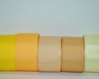 """wholesale 7/8"""" grosgrain ribbon 5 yards solid color  -1 yard of each 5 different colors"""
