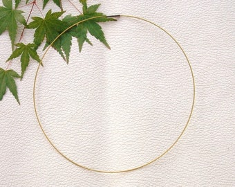 ROUND neck in thread of steel 1 mm yellow clasp magnetic 46cm