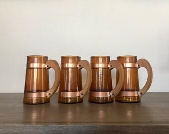 Set of 4 Vintage 1960's Siesta Ware Mugs