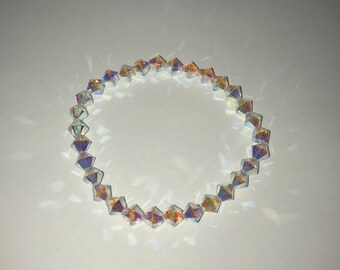 LillyLou Swarovski Crystal AB Iridescence Bead Bracelet
