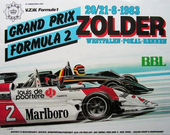 Poster for F2 races in Zolder 1983