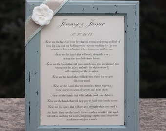 Wedding Gift for Couple Personalized Wedding Gift Custom Poetry Wedding Blessing Distressed Frame