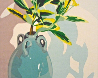 Leaves and Shadow, limited edition serigraph