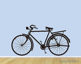 Bicycle Wall Decal, Bicycle Wall Sticker, Bike Decal Vinyl Art, Bicycle Wall Decor for Living room, Nursery, Bike Wall Sticker #M24