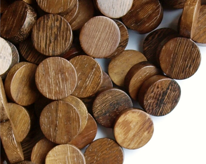 Wood Bead, Coin 15mm, Robles - Three 16 Inch Strands (WDCN-15RB)