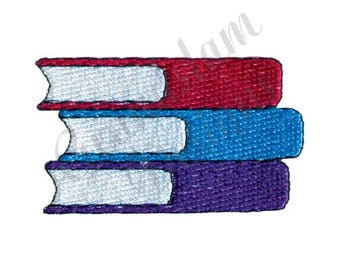 Stack Of Books - Machine Embroidery Design