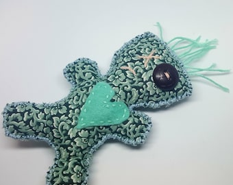 Handmade Poppet, Voodoo Doll, One of a Kind, Witchcraft, Wiccan, Magick, Fabric Doll