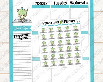 JJ Washing Dishes --- Planner Stickers --- 643