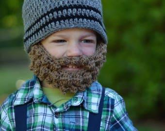 Bearded Baby Hat - Baby Lumberjack Hat - Lumberjack Beard - Lumberjack Beanie - Crochet Lumberjack Beanie Hat - Lumberjack First Birthday