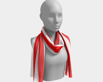 Mainz Carnival scarf, Carnival scarf,   Red and white striped scarf ,  Red and white striped carnival scarf, Red and white striped clothes