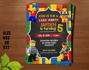 Lego city invitation Etsy