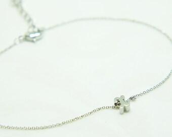 Silver Bracelet Custom Initial Bracelet Teacher Gift Personalized Bracelet Gift for Mom Charm Bracelet Gift for Women Flower Girl