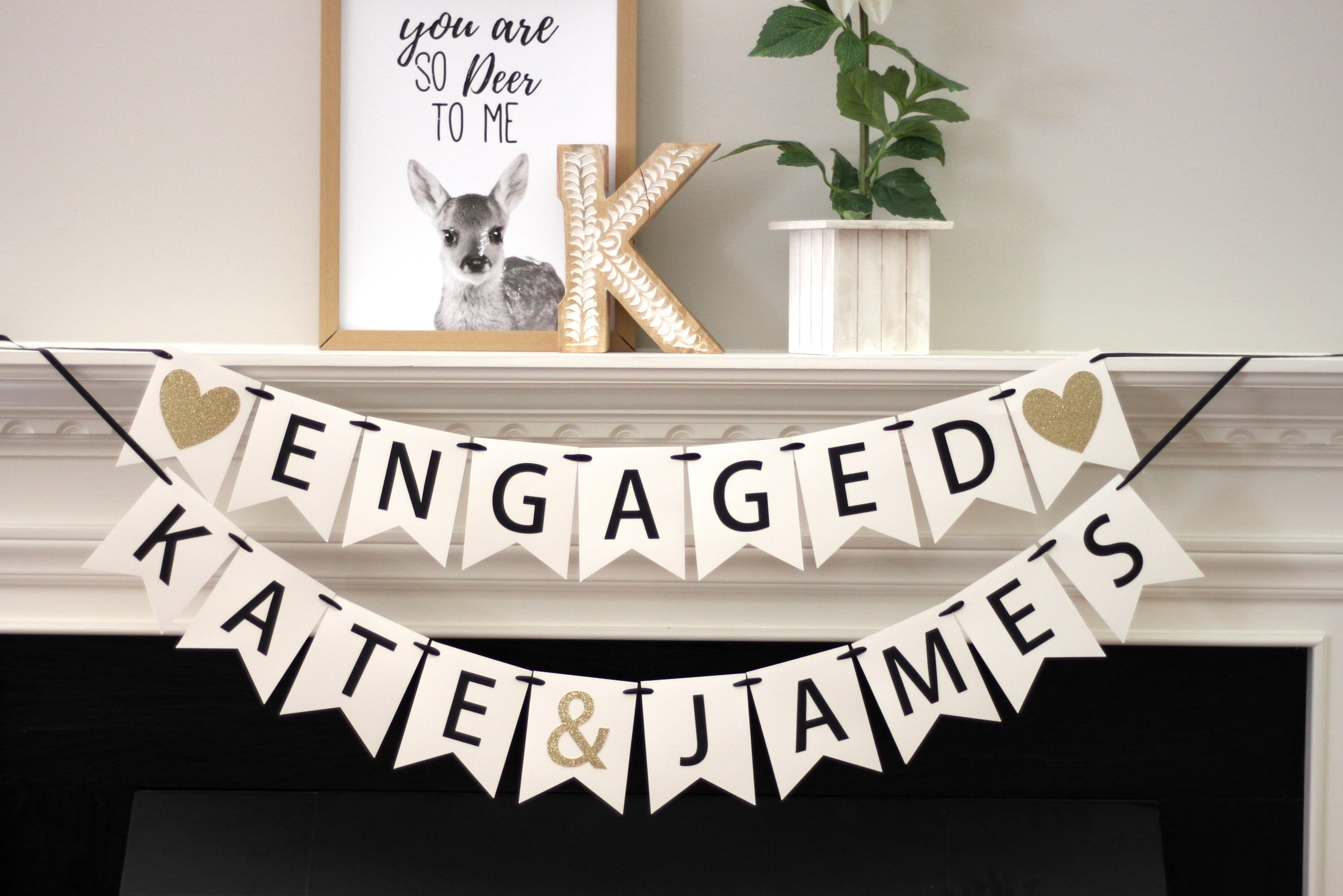 Engagement Party Decorations Bridal Shower Banner