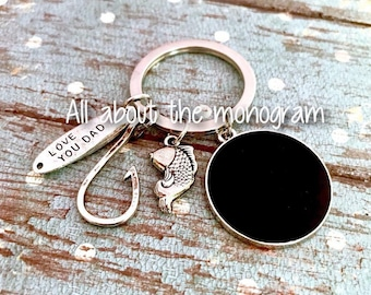 fishing key chain for dad