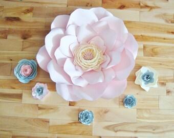 Set of 6  Flowers - Paper Flowers | Paper Flowers for Nursery | Paper Flower Backdrop | Paper Flower | Paper Flower Wall | Paper Flower Art