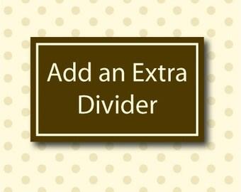 Extra Closet Clothing Divider - Listing for 1 Closet Divider