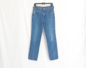 "Vintage 80's Wrangler Straight Leg Jeans. Size Tagged 32 x 34. Waist:  30"""