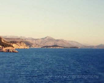 landscape photography, dubrovnik croatia photography, travel, blue decor, nautical, adriatic sea, ocean, water, D18