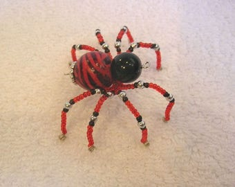 Beaded Spider Ornament With Story Card - Christmas Spider